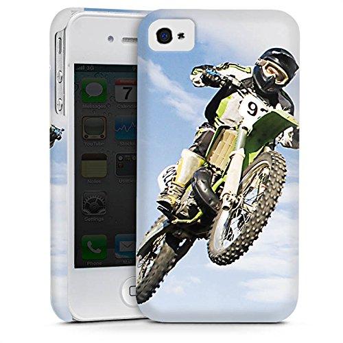 Apple iPhone 5s Housse Étui Protection Coque Motocross Moto Sport mécanique Cas Premium mat