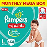 Pampers New Large Size Diapers Pants Monthly Box Pack, 128 Count