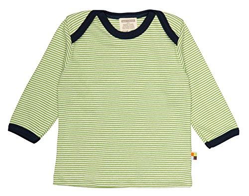 Loud + Proud Unisex - Baby Sweatshirt M101, Gestreift, Gr. 80 (Herstellergröße: 74/80), Grün (Moos mo)