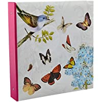 Arpan Large Cream Ring Binder Photo Album Holds 500 Photos - Butterfly by (Grande Binder)
