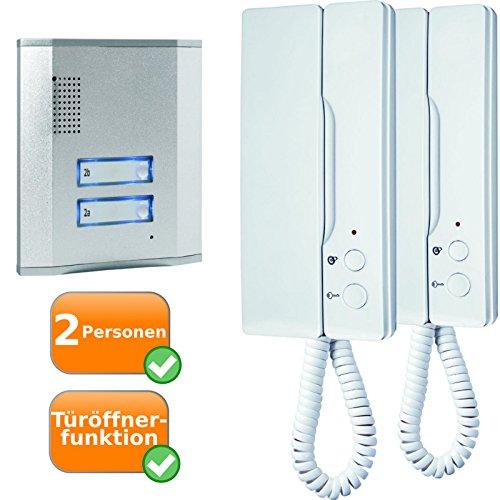 Tür-Gegensprechanlage für 2 Wohn-Parteien für elektronische Zutrittsgewährung zu Ihrer Wohnung