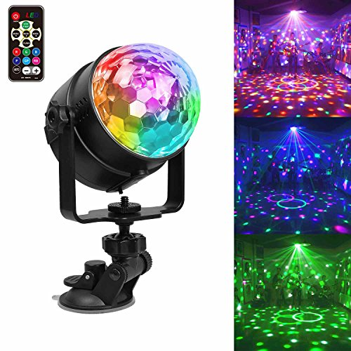 USB Wiederaufladbar Party Licht Partybeleuchtung LED Discokugel, Chenci Stimmungslicht RGB Modi Disco Glühbirne sprachsteuerte Partylicht mit Fernbedienung Halterung als Kinder Geschenk(4)