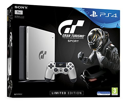 Sony PS4 Slim 1TB + Gran Turismo Sport Limited edition 1000GB Wifi Plata -...