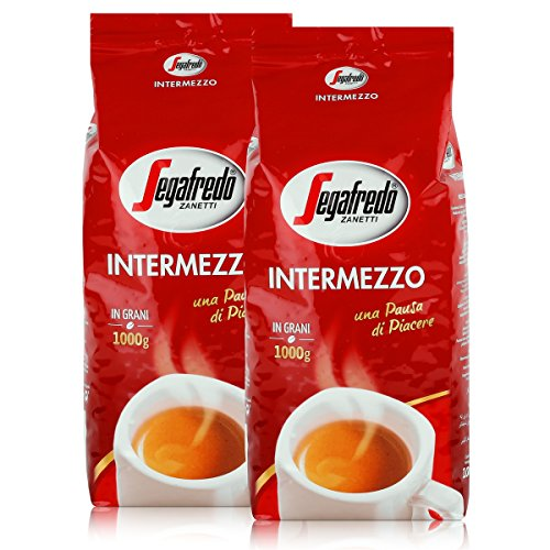 2x SEGAFREDO Intermezzo ESPRESSO ganze Bohnen 1000g