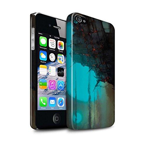 Offiziell Chris Cold Hülle / Glanz Snap-On Case für Apple iPhone 4/4S / Schiffswrack Muster / Gefallene Erde Kollektion Gift Haupt