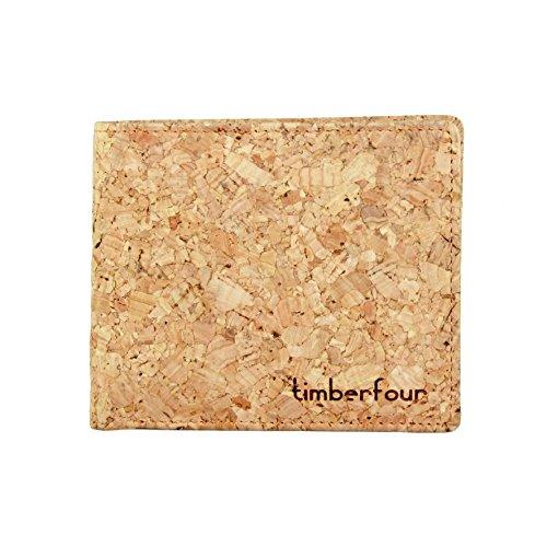 Timberfour Kork Portemonnaie - vegane und nachhaltige Geldbörse für Männer und Frauen mit Münzfach - 2