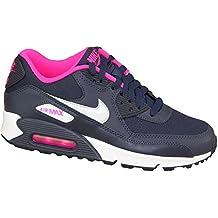 Nike Air Max 90 Mesh (Gs) Scarpe da ginnastica, Bambine e ragazze