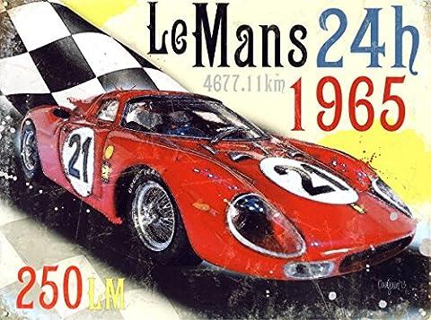 24Heures Le Mans 1965Dave Gaunt Plaque en métal 40x 30cm