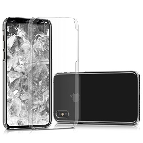 kwmobile Hülle für Apple iPhone X - Crystal Case Handy Schutzhülle Kunststoff - Backcover Cover klar Transparent