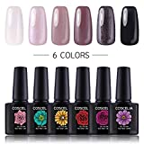 Coscelia UV Nagellack Set 6pc Gellack Farbenset UV Farbgel Nagelgel Set Gel Lacken Polish