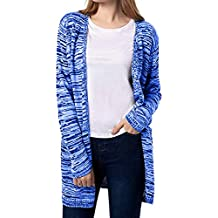 b882a11d041b HOOUDO Cardigan Femme,Cardigan Femme Hiver,Femme Solid Manches Longues Gilet  Pulls Open Front