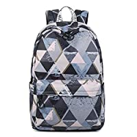 "Acmebon Lightweight School Backpacks for Teen Girls Casual 15.6"" Notebook Travel Daypacks Grey Phantom"