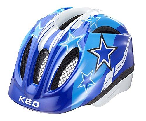 KED Meggy Helmet Kids 2019 Fahrradhelm, blue stars, M | 52-58cm