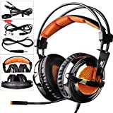 SADES SA928 Pro Stereo Surround Sound PC Gaming Headset auriculares con micrófono para XBOX / PS3 / PC / teléfono móvil / iPhone / iPad / Música