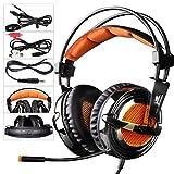 SADES SA928 Professionelle Surround Sound Stereo PC Gaming Headset Kopfhörer mit Mikrofon für XBOX / PS3 / PC / Handy / iPhone / iPad / Musik