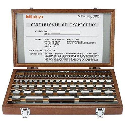 Mitutoyo MT516-971-11Gauge Block Set Untersuchen. 88pc 516-971-11 -