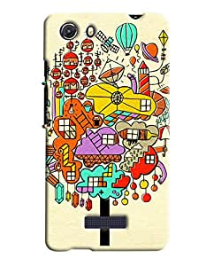 Blue Throat City Made Of Confuse Printed Designer Back Cover For Micromax Unite 3 (Q372)