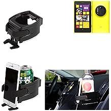 Titular Smartphone para el coche para Nokia Lumia 1020. Soporte coche Vaso Botella Lata cop asostenedor de taza bebida caja ventilación - K-S-Trade(TM)