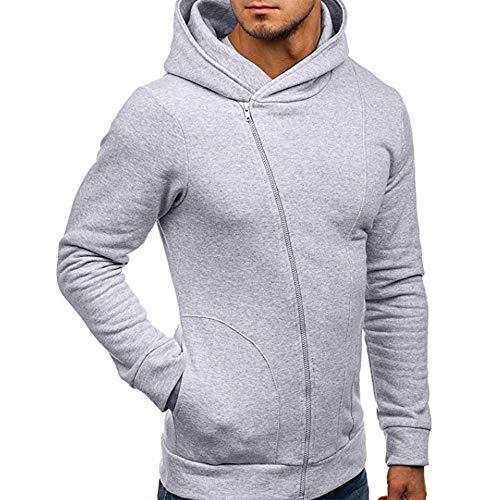 HULKY Vendita Casuale Sport Uomo Inverno Moda Giacca Uomini Tendenza Cappotto Design Sottile Capispalla M-XXL(Grigio,XX-Large)