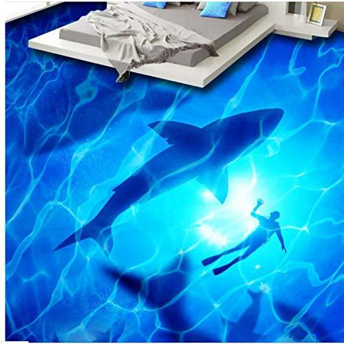 Zybnb Moderne 3D Bodenfliesen Des Wandpapiers 3Dflooring Luxuriöse 3D Für Selbstklebende Wasserdichte Tapete Der Wohnzimmertapete-200X140Cm