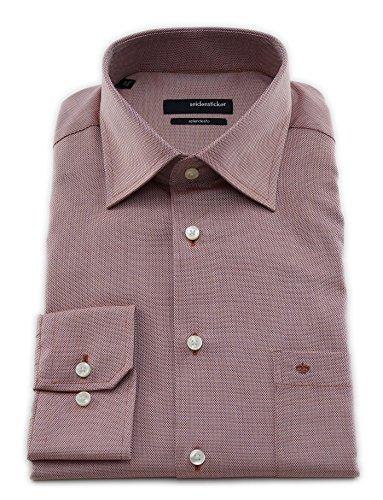 Seidensticker -  Camicia classiche  - A quadri - Classico  - Uomo Rosso