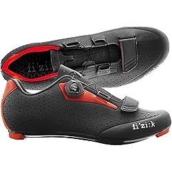 Fizik R5Uomo Boa Ciclismo de Carretera Zapatos, Hombre, Negro/Rojo, Talla 43