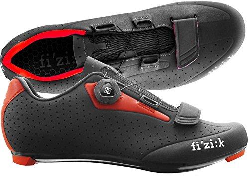 Fizik R5Uomo Boa ciclismo de carretera zapatos, hombre, negro /rojo, talla 44