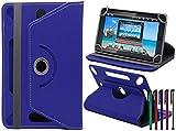 LOLO® ARNOVA ChildPad Tablet 360 Grad Rotation Universal PU Leder Hülle Abdeckung Ständer Tasche Beutel (Tablet Case - Cover- Folio) - Blau