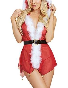 [Patrocinado]VENMO Navidad Moda Mujeres Muselina Traje de Especias Tentación Ropa Interior