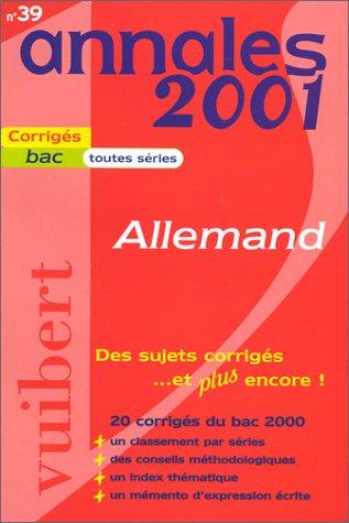 Annales 2001 : Allemand