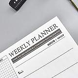 Ganmaov Calendario delle note del piano di pianificazione 2020, calendario semplice della pianificazione di pianificazione A4, memo per l'home office excitement