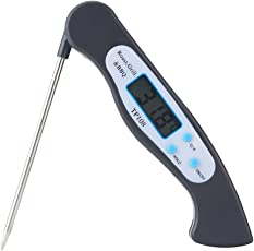 Digital Meat Thermometers Instant Read Kitchen Cooking Food Thermometer Electronic Handy Tools with LCD Display and Long Probe for Kitchen BBQ Grill