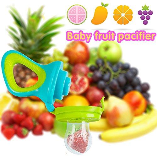 Fruchtsauger, Tinabless Schätzchen Schnuller Gemüse sauger für Schätzchen mit 3 Silikon Nippel Ersatz - 3