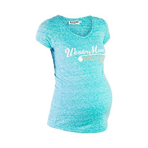 QUEEN MUM Le T-shirt de grossesse T-shirt de grossesse T-shirt de grossesse Bleu