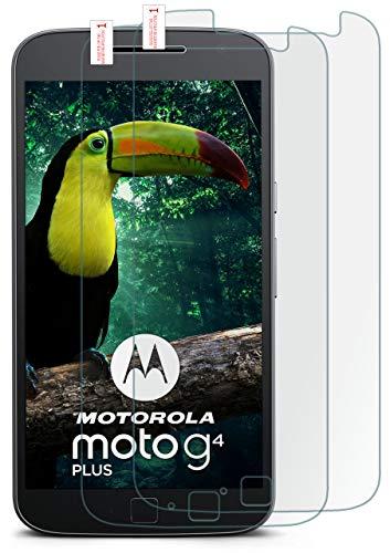 moex 2X 9H Panzerfolie für Lenovo Moto G4   Panzerglas Bildschirm Glasfolie [Tempered Glass] Screen Protector Glas Bildschirmschutz-Folie für Motorola Moto G4/G4 Plus Schutzfolie