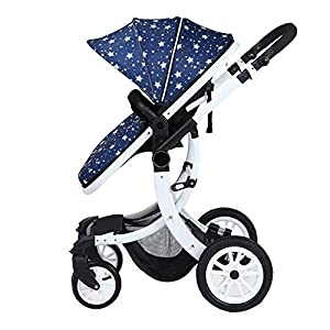 Yingerche Baby Strollers can sit Flat and high Landscape Folding Lightweight Children's Shock Baby Baby Push Stroller (Color : Multi-Colored)   2