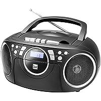 Kassettenradio mit CD  UKW-Radio  Boombox  CD-Player  Stereo Lautsprecher  AUX-Eingang  Netz- / Batteriebetrieb  Tragbar  Schwarz  Dual P 70