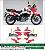 Kit adesivi decal stikers SUZUKI V-STROM DL 650 2004 2011 PARIS DAKAR MARLBORO GASTON RAHIER (ability to customize the colors)