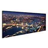 islandburner Bild Bilder auf Leinwand London bei Nacht mit