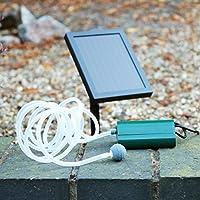 Oxygénateur de pompe à air solaire pour Garden Pond 0.6W, 100LPH - Pond 1 Kit d'aération en pierre par PK Green