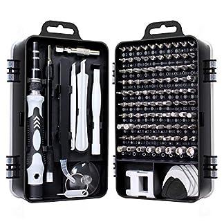 Juego de destornilladores, Gocheer kit de herramientas de reparación de destornilladores de precisión 115 en 1 Kit de controlador magnético Kit de herramientas de profesional para teléfono celular