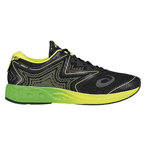 asics-mens-noosa-ff-mens-running-shoes-black-greengecko-safetyyellow-10-uk