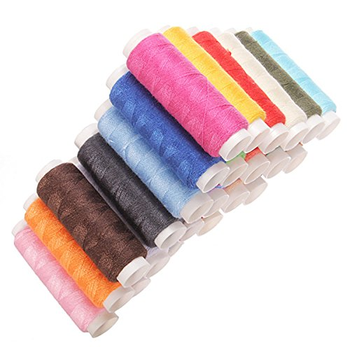 kingso-lot-de-24-pcs-200m-bobine-de-fil-a-coudre-multicolore-mercerie-machine