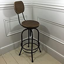 Kitchen Stool With Back Rest. By Steel Magnolias Furniture