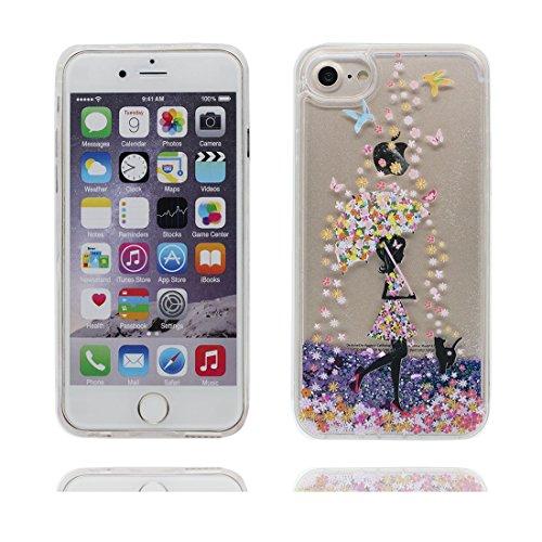"""iPhone 6S Plus Coque, Skin Hard Clear étui iPhone 6 Plus / 6S Plus, (talon hauts)- Glitter Bling Sparkles Shinny Flowing iPhone 6 Plus Case 5.5"""", iPhone 6S Plus Cover 5.5"""" résistant aux chocs # 2"""