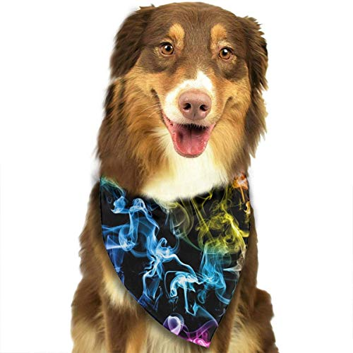 nxnx Colored Smoke Black Dog Bandana - Small Medium and Large Bandanas for Every Occasion Or Holiday - Easy to Tie On Your Cats Or Dogs Or Puppy - Comfortable and Stylish Pet Accessories