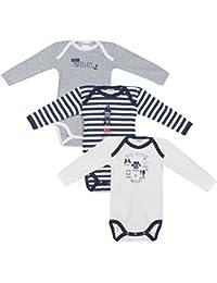 Absorba Baby Boys' Body Bodysuit Pack Of 3