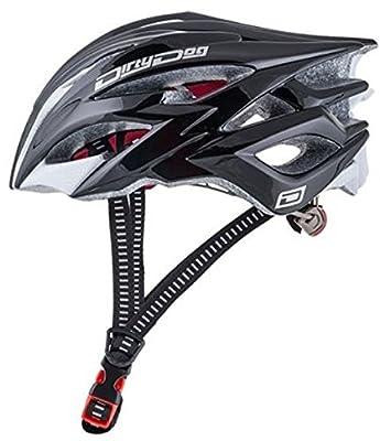 Dirty Dog Mens Womens Adjustable Cycle Helmet Black L/XL 58cm-62cm Sprint 47038 from Dirty Dog