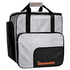 Brubaker SuperTec Skischuhtasche Helmtasche Rucksack mit Schuhfach – Silber Orange