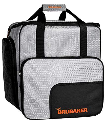 Brubaker SuperTec Skischuhtasche Helmtasche Rucksack mit Schuhfach - Silber Orange